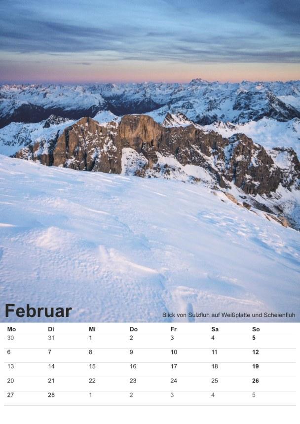 Bildkalender Montafon 2017 - Bild Februar
