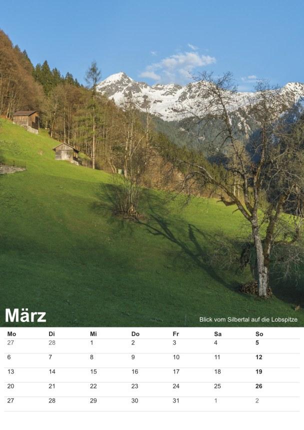 Bildkalender Montafon 2017 - Bild März