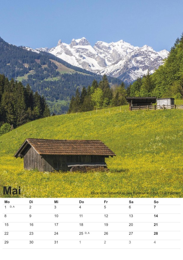 Bildkalender Montafon 2017 - Bild Mai