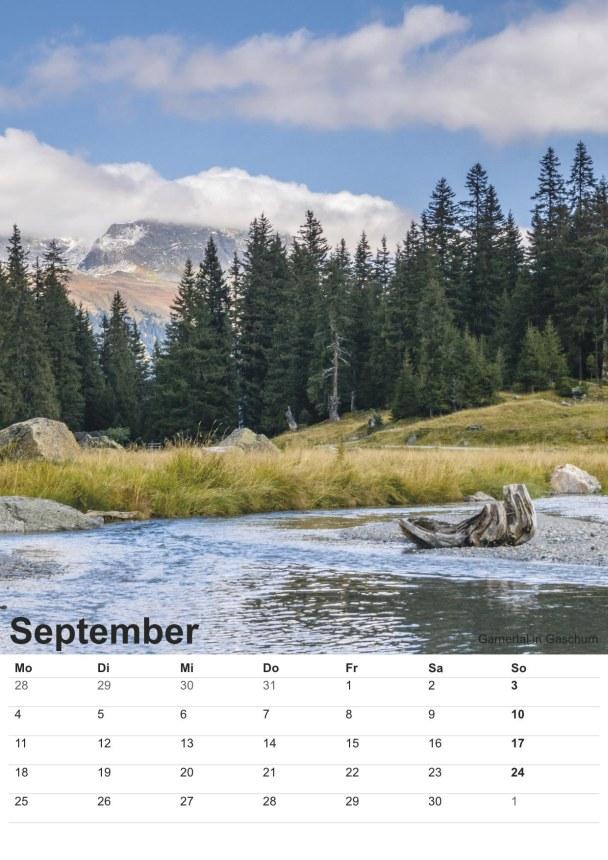 Bildkalender Montafon 2017 - Bild September