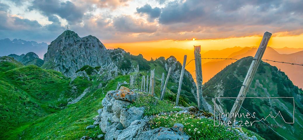 Alpenglühen im Montafon