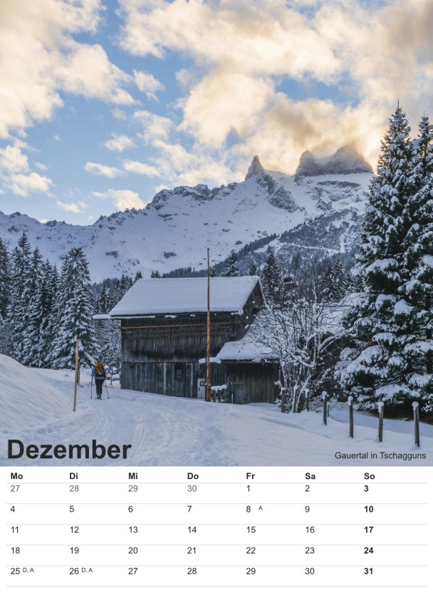 Bildkalender Montafon 2017 - Bild Dezember