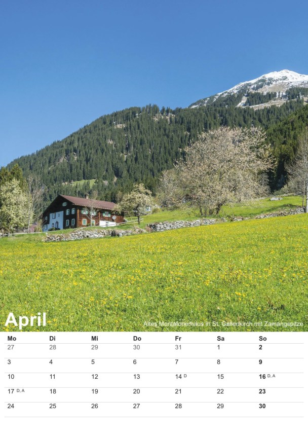 Bildkalender Montafon 2017 - Bild April