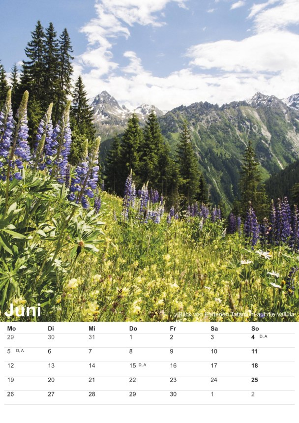 Bildkalender Montafon 2017 - Bild Juni