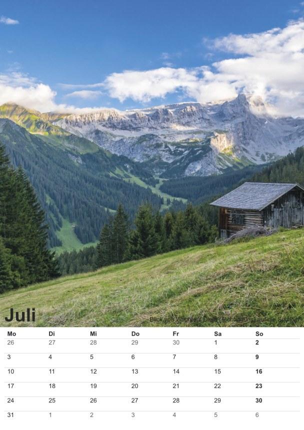 Bildkalender Montafon 2017 - Bild Juli