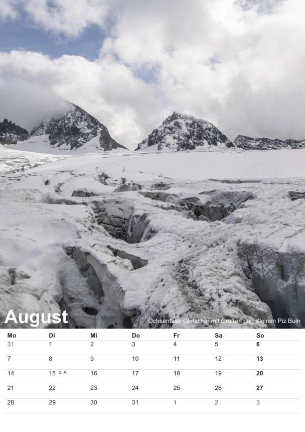 Bildkalender Montafon 2017 - Bild August