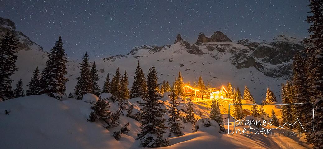 Sternenhimmel im Winterlichen Gauertal