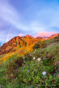 Regenbogen über dem Itonskopf