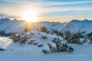 Sonnenaufgang im Montafon